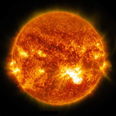 Solar Flare Detox Center by One Sunspot 6 Substantial Flares Nasa