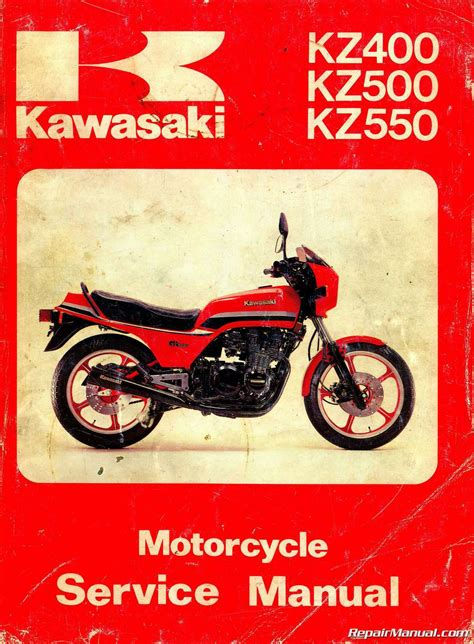 Kawasaki Motorcycle Service by Kawasaki Kz400 Kz500 Kz550 Motorcycle Service Manual