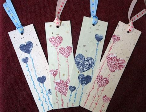 Handmade Paper Bookmarks - handmade bookmarks for valentine s day giveaway from isi