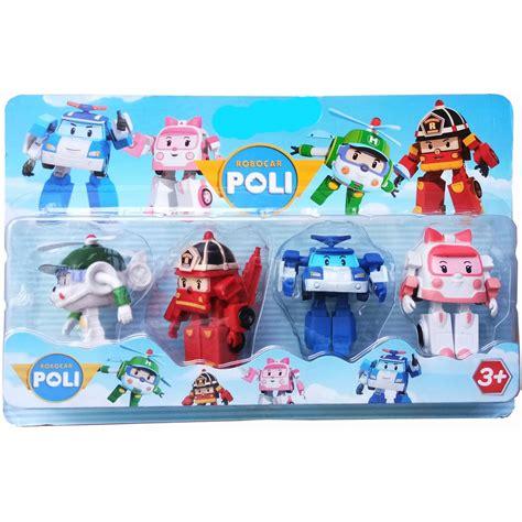 Robocar Poli Isi 4 mainan robocar poli isi 4 pcs biru shopee indonesia