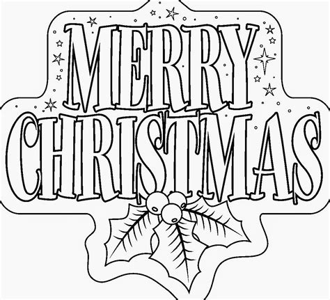christmas coloring pages merry christmas sign the holiday site christmas coloring pages