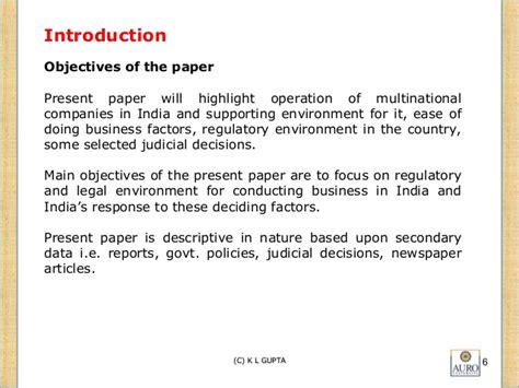 Essay On Multinationals In India by Multinational Companies Vis A Vis Regulatory Environment In I