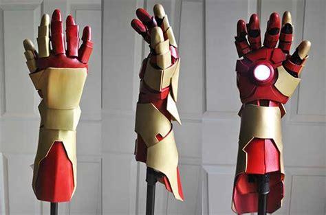 origami iron glove replica da luva da armadura do homem ferro o verso do