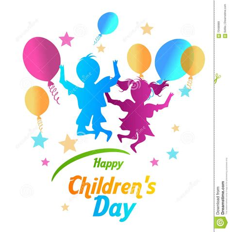 s day happy children s day stock illustration image 70498989