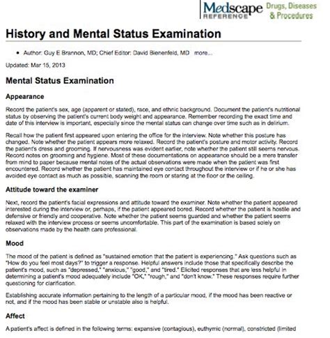 mental status examination sle report mental status examination report sle 28 images mental