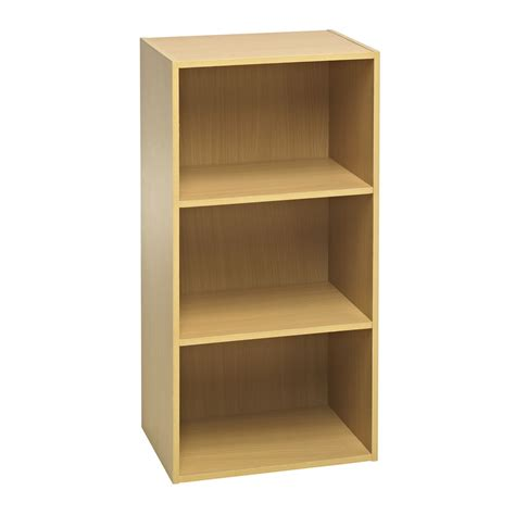 Shelving Unit Wilko Functional 3 Tier Shelving Unit Oak Effect At Wilko