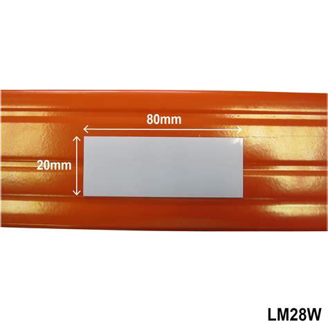 magnetic shelf label location marker 20mm x 80mm white