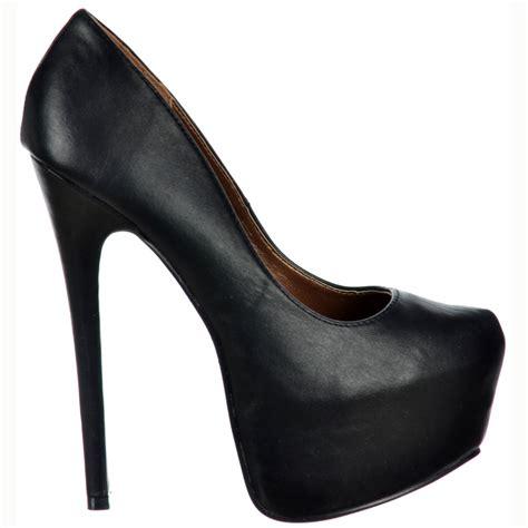 platform black high heels shoekandi high heel concealed platform stiletto shoes