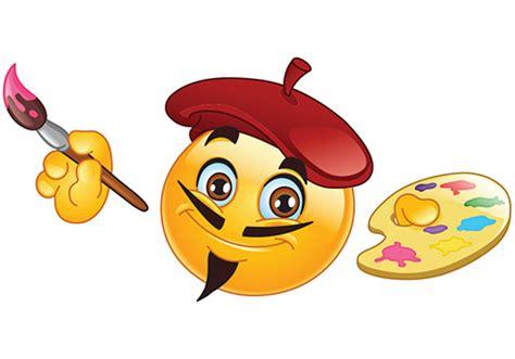 paint emoji painter smiley symbols emoticons