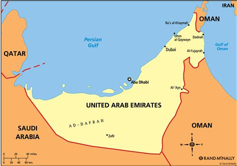 map of the united arab emirates davidvoder s