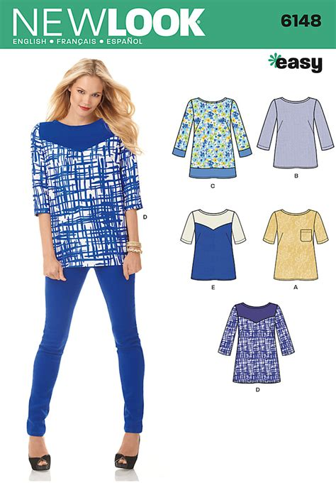 pattern review new look 6148 new look 6148 misses top