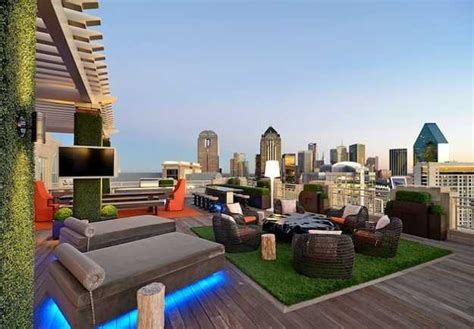 rooftop patio whimsical roof top garden in dallas blends urban
