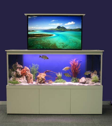 La décoration avec un meuble aquarium   Archzine.fr
