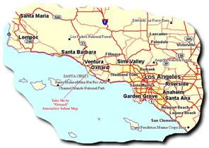 map of showing ventura mission map