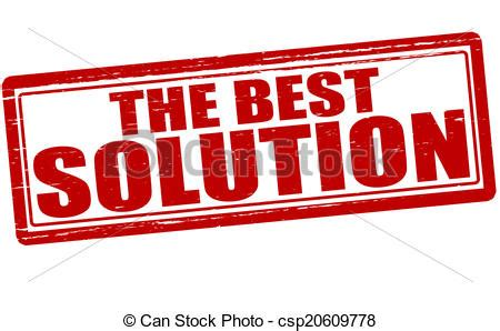 best solution the best solution st with text the best solution