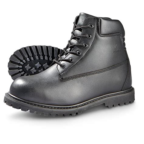 black steel toe boots for s wellco 174 6 quot steel toe boots black 230117 work