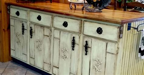 Decoupage Kitchen Cabinets - kitchen cabinet island makeover hometalk