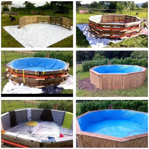 diy pallet swimming pool tutorial pallet ideas for outdoors swimming pools