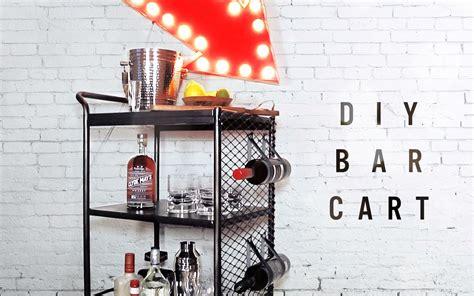 diy bar diy done right diy bar cart kitchen cart makeover youtube