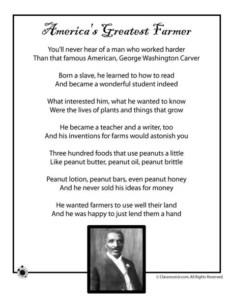 george washington biography short summary kids poems for black history month kids poem george
