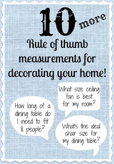 by dcor 20 rule of thumb measurements for decorating your home 20 rule of thumb measurements for decorating your home