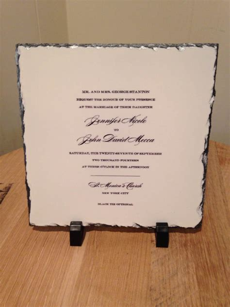 wedding invitation keepsake plaque personalized wedding invitation keepsake slate plaque your