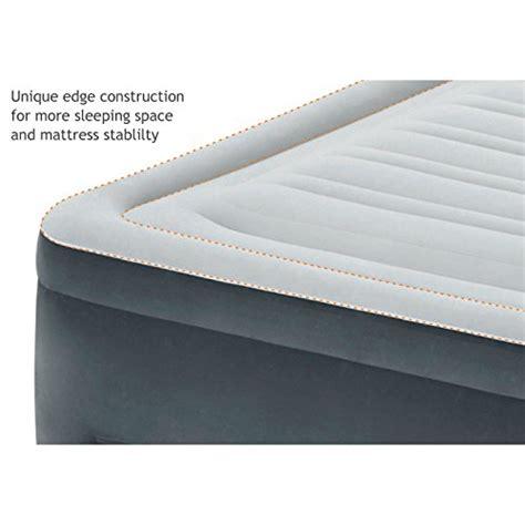 intex comfort plush elevated dura beam airbed intex comfort plush elevated dura beam airbed with built