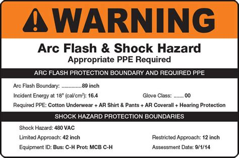 arc flash policy template arc flash creative safety supply