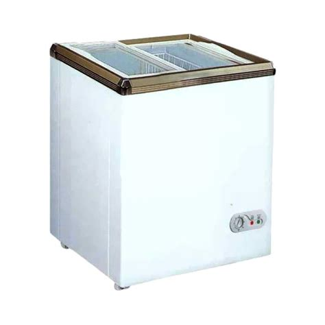 Sliding Flat Glass Freezer Xs 320 jual rsa xs 110 sliding flat glass chest freezer putih