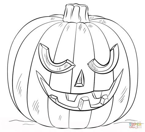 jack o lantern coloring page free printable coloring pages