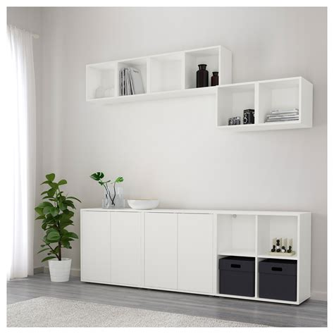 ikea eket cabinet eket cabinet combination with feet white 210x35x180 cm ikea