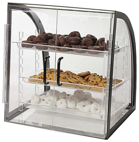 Pastry Countertop Display by Acrylic Bakery Display 3 Removable Trays Metal Frame