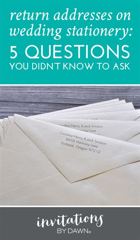 return address etiquette 5 questions you didn t to ask