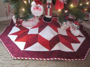 quilted christmas tree skirt patterns happy holidays
