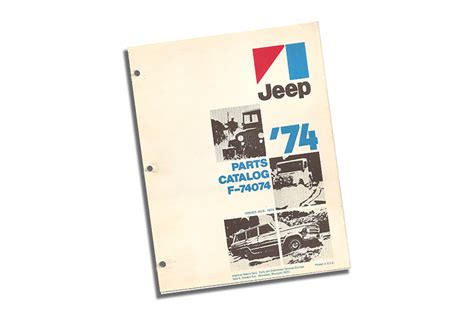 1974 jeep parts catalog jeep parts all the jeep