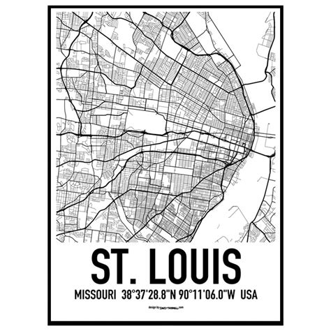 st louis map usa st louis map poster find your posters at wallstars