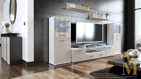 wall unit living room furniture almada v2 white high