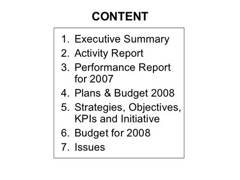 budget performance report template budget presentation template