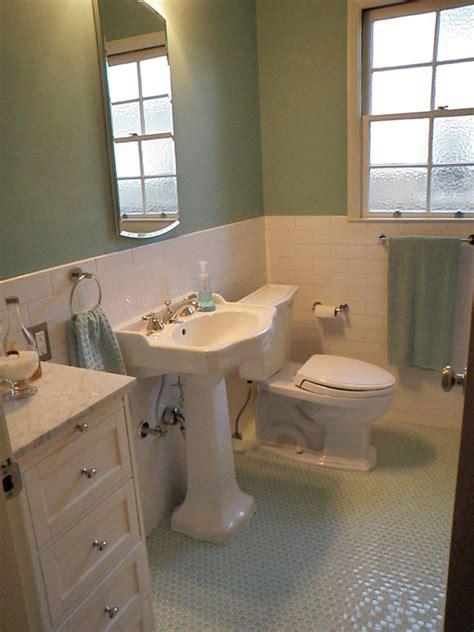 penny floor bathroom penny tile floor bathroom contemporary with glass wall