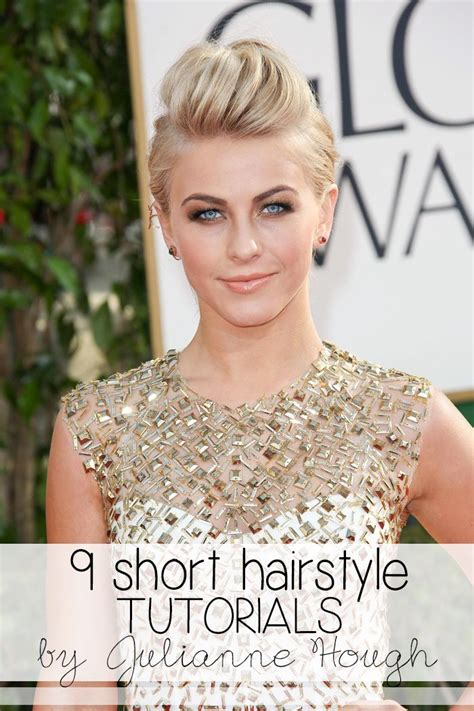 How To Style Julianne Rancids Hair | 9 short hairstyle tutorials inspired by julianne hough