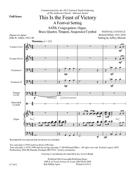 victor s house of music this is the feast of victory satb by jeff j w pepper sheet music