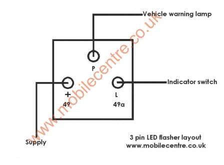 led indicator flasher relay  volt  pin  mobile centre