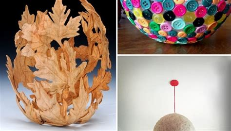 Handmade Things - 10 uses of balloons for handmade decorative items all on