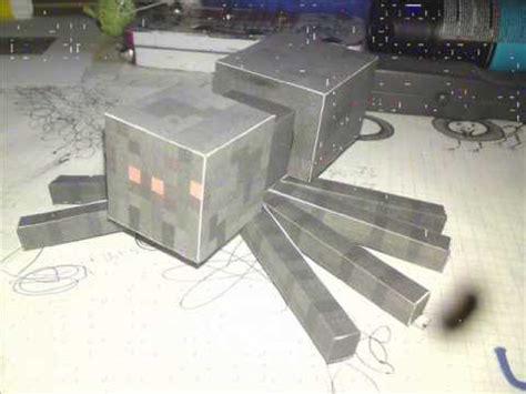 Minecraft Papercraft Spider - minecraft papercraft spinne spider bastelanleitung craft