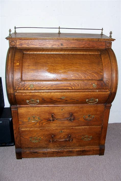 dresser with desk top antique roll top desk value antique furniture