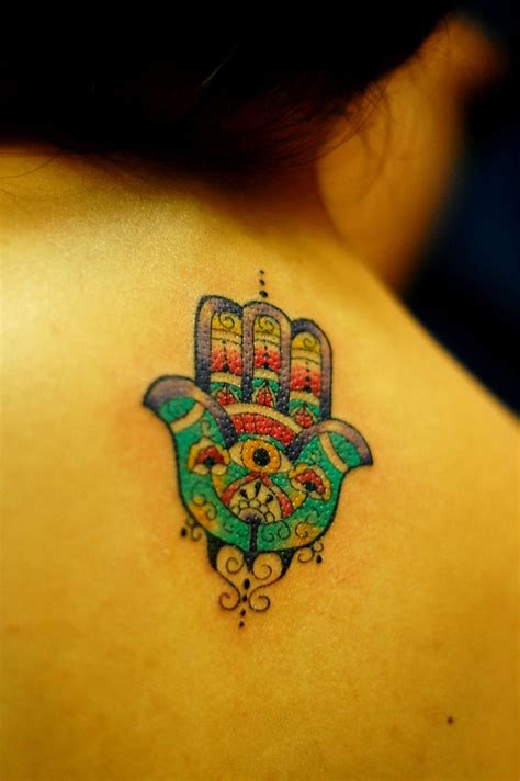 fatima hand tattoo hamsa details around the ag