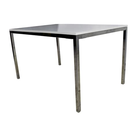 ikea table dining 57 off ikea ikea white top dining table with silver