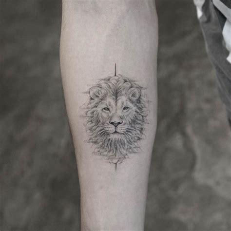 small lion head tattoo best ideas gallery