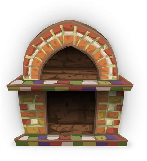 Fireplace Clipart by Free To Use Domain Fireplace Clip