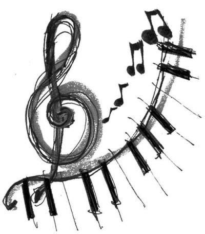 imagenes siluetas musicales m 225 s de 25 ideas fant 225 sticas sobre notas musicales en